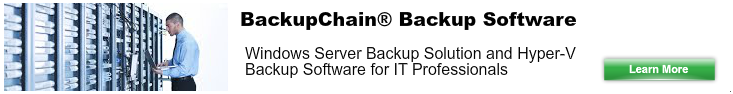 Backup Solution for Windows Server 2012
