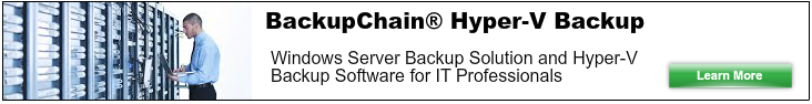 Hyper-V Backup Solution for Windows Server 2012