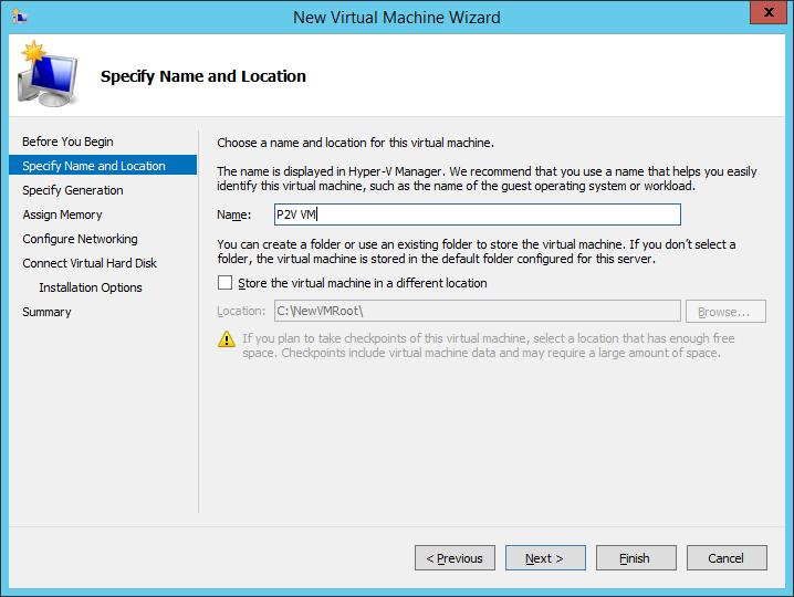 How to P2V for Hyper-V 2012 Using Disk2VHD in VHDX Format