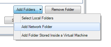 step 1, select folder